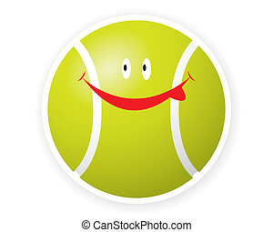 toon, 微笑, スポーツ, ボール, テニス