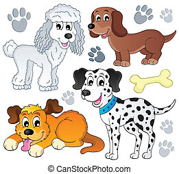 topic, イメージ, 犬, 3