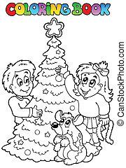 topic, 3, 着色 本, クリスマス