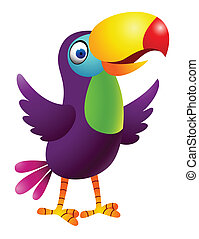 toucan, 鳥, 漫画
