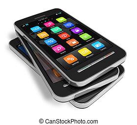 touchscreen, セット, smartphones