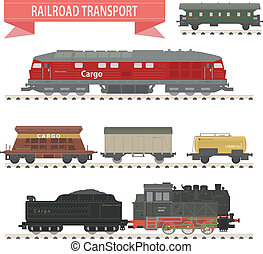 trains., セット, 鉄道