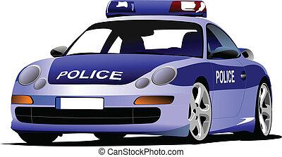 transport., c, 市の, 車。, 警察