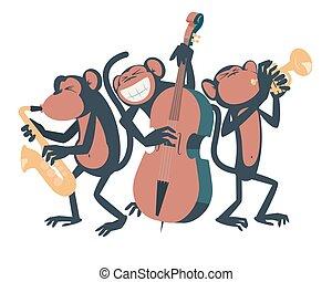 trio., ジャズ, サル