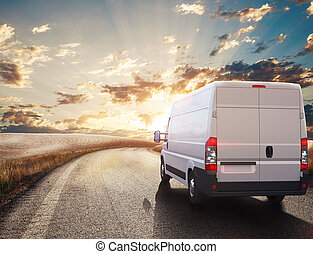 truck., 輸送, レンダリング, 3d