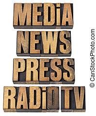 tv の ニュース, ラジオ, 出版物, 媒体