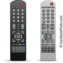 tv, コントローラー, リモート