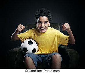 tv, 世界, サッカー, カップ
