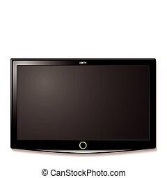 tv, 壁, lcd, こつ