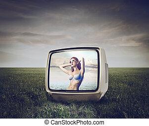 tv, 女