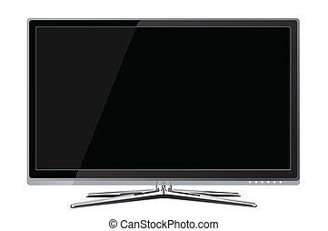tv, lcd, realisti, 血しょう スクリーン, 平ら