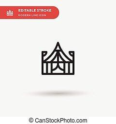 ui, シンボル, icon., プロジェクト, サーカスの色, ベクトル, デザイン, 網, 単純である, editable, アイコン, あなたの, モビール, 現代, テンプレート, element., 完全, ビジネス 実例, pictogram, stroke.