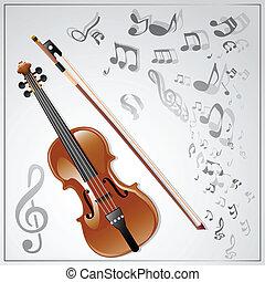 violin., ミュージカル, 背景