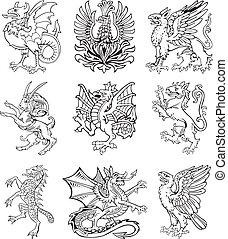 vol., ii, heraldic, モンスター