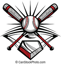 w, 交差させる, コウモリ, ソフトボール, 野球, ∥あるいは∥