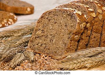 whole-grain, シリアル, bread