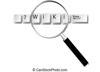 wiki, 情報, キー, 拡大鏡, ファインド