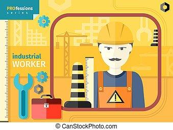 workwear, ヘルメット, 労働者, 産業