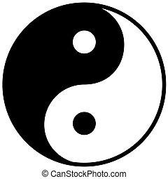 yang, シンボル, 調和, ying, バランス