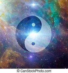 yin, 天, yang
